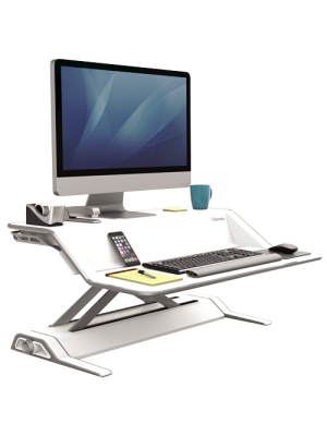 Lotus™ Sit-Stand Workstation – White